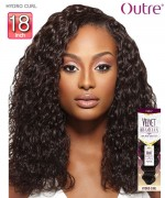 Outre Remi Human Hair Weave Extension Velvet Brazilian - HYDRO CURL 18
