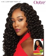 Outre Synthetic Braid X-Pression Braid - 4 IN 1 LOOP DEEP TWIST 14