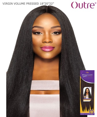 "Outre Human Hair Blend Weave Extension - Purpple Pack Brazilian Boutique-VIRGIN VOLUMEPRESSED18""20""22"""