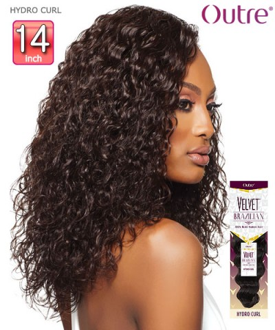 Outre Remi Human Hair Weave Extension Velvet Brazilian - HYDRO CURL 14""