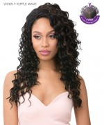 It's a wig Human Hair Lace Front Wig - VIXEN Y RIPPLE WAVE