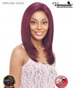 Vanessa TOPS DRJ KOLEY - Synthetic Deep Reverse J-Side Swiss Silk Lace Front Wig