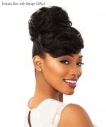 Sensationnel  Synthetic Hair Instant Bun with Bangs - CARLA