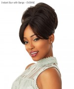 Sensationnel  Synthetic Hair Instant Bun with Bangs - EVONNE
