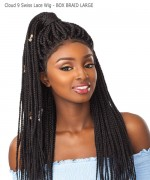 Sensationnel  Synthetic Lace Front - Cloud 9 Swiss Lace Wig - BOX BRAID LARGE