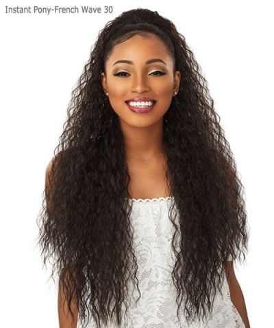 Sensationnel  Synthetic Ponytail - INSTANT PONY  -  FRENCH WAVE 30