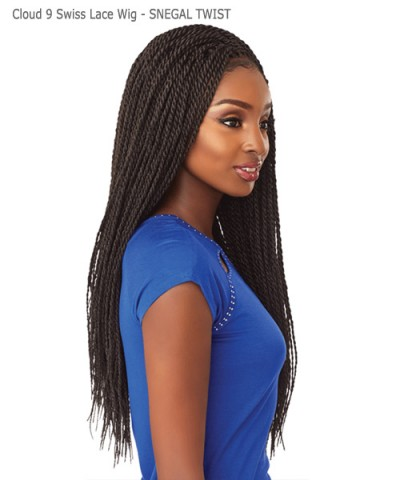 Sensationnel  Synthetic Cloud 9 Swiss Lace Wig -SNEGAL TWIST