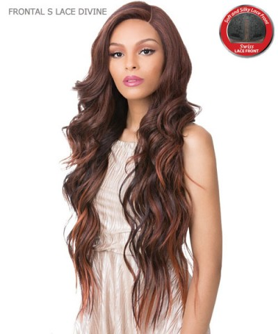 It's a wig Synthetic HAND KNOTTED Lace Front Wig - FRONTAL S LACE DIVINE