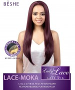 Beshe Synthetic 2 inch Deep Lace Soft Swiss Wig - MOKA