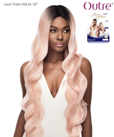 Outre Synthetic Lace Front Swiss I Part - KELIA 32""