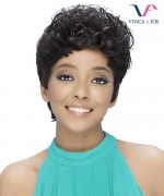 Vivica Fox Remi Human Hair Pure Stretch Cap Full Wig -  VIVID