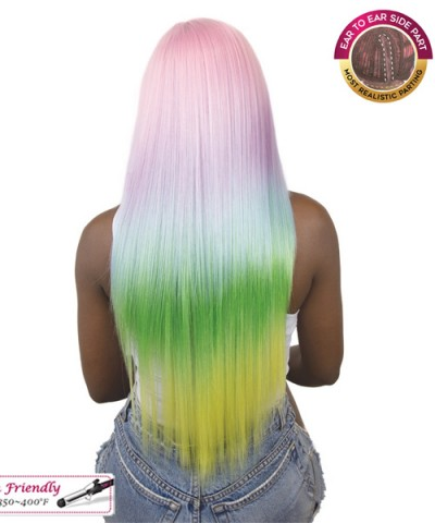 It's a wig Synthetic UNICORN COLOR Lace Front Wig- STRAIGHT