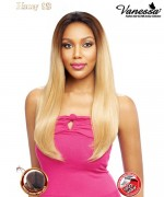 Vanessa Human Hair Blend Honey Hand-Tied Fixed Part Lace Front Wig - T88HB FINESE