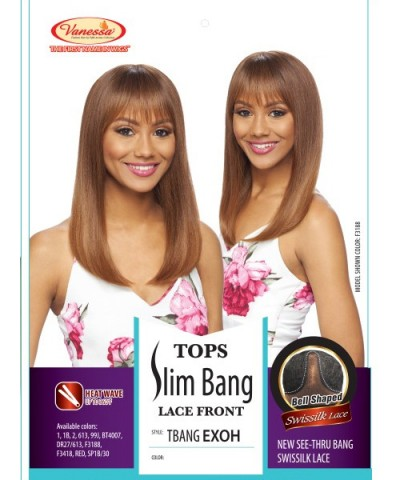 Vanessa Synthetic Tops Slim Bang Lace Front Wig - TBANG EXOH