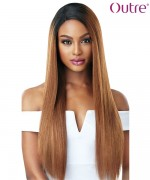 Outre Human Hair Blend &PLAY L Part Swiss Lace Front Wig - SAGE