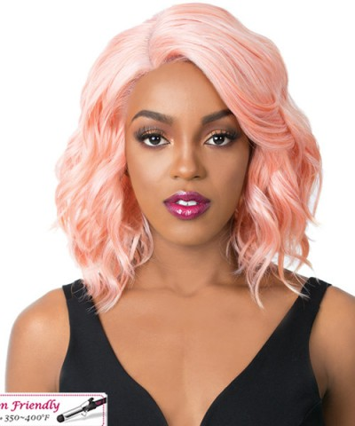 It's a wig Synthetic  Lace Front Wig - SWISS LACE GLANAGE