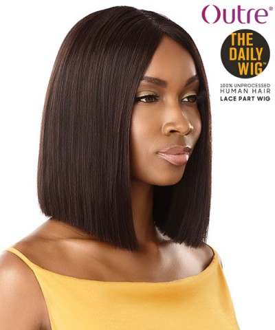 Outre 100% Human Hair The Daily Wig - STRAIGHT BLUNT CUT BOB 12""