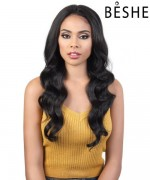 "Beshe Synthetic Lady 6"" Deep Part  Swiss Lace front Wig - LLDP SPIN 5"