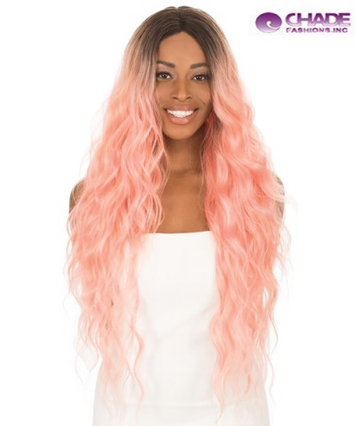 New Born Free Synthetic Lace Front Wig - MAGIC LACE CURVED PART  MLC208