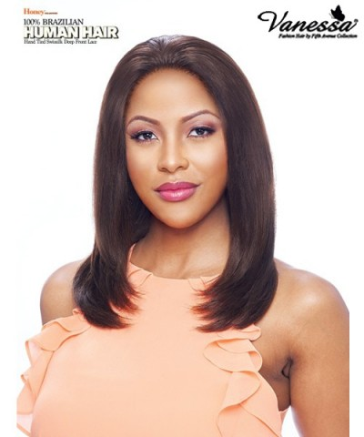 Vanessa 100% Brazilian Unprocessed Human Hair 13 x 5 Hand Tied Ear-to-Ear Lace Front Wig - TH35 SOLINA