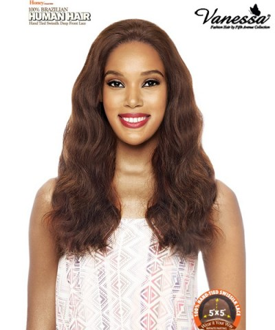 Vanessa Brazilian Human Hair Swissilk Deep Lace Front Wig - TH5X SOFEE