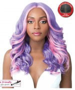 It's a wig Synthetic 4 inch Center Part Lace Front - SWISS LACE FRIDA