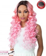 It's a wig Synthetic 3 inch Center Part Lace Front Wig- SWISS LACE KEEFF
