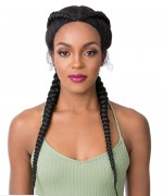 It's a wig Synthetic Lace Front Wig - DUTCH CORNROW BRAID