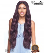 Vanessa Honey Brazilian Human Hair Blend  Tops Deep Part Lace Front Wig - TDHB ILMA 40