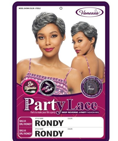 Vanessa Synthetic Deep Reverse J-Part Lace Wig - DRJ RONDY