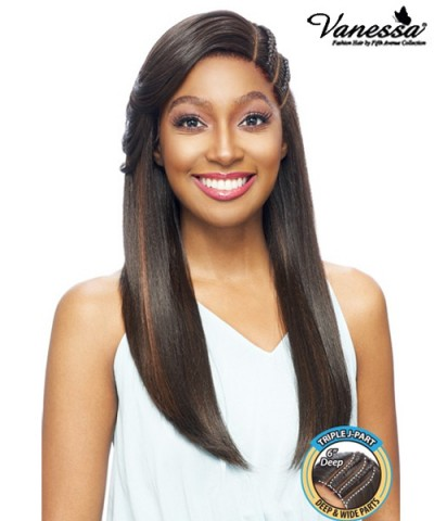 Vanessa Human Hair Blend Triple J Part Lace Front Wig - TJ3 KAYO