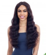 "Shake N Go 100 % Remi Human Hair  5"" Deep Lace Part  Wig - Naked Natural 701 Freedom"