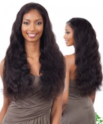Shake N Go Naked 100 % Brazilian Human Hair Lace Front Wig - Natural 101 Body Wave 26""