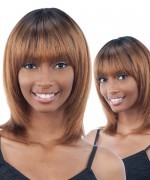 Shake N Go Milkyway Saga  100% Remi Human Hair Full Wig - SNOW