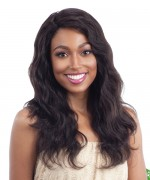 Shake N Go Naked 100 % Brazilian Pemium Deep Invisible Part Lace Front Wig -  Natural Wavy