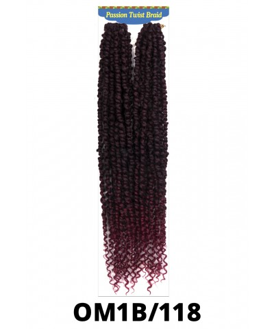 New Born Free Passion Twist Synthetic Braid - GLANCE LARGE BOX BRAID 14""