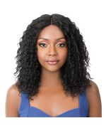 It's a wig Human Hair Lace Front - HH WET N WAVY BOHEMIAN WAVE