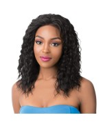 It's a wig Human Hair Lace Front - HH S LACE WET N WAVY FRENCH DEEP WATER