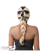 It's a wig Synthetic Wig Lace Front - SWISS LACE HEART BRAID
