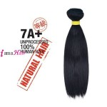 Shake N Go 100% UNPROCESSED NATURAL HUMAN HAIR 7A NATURAL STRAIGHT 14