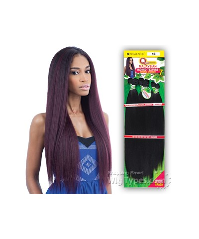 "SnG Que Malaysian Bundle Wave - IRONED TEXTURE STRAIGHT 7PCS (18""20""22"")"
